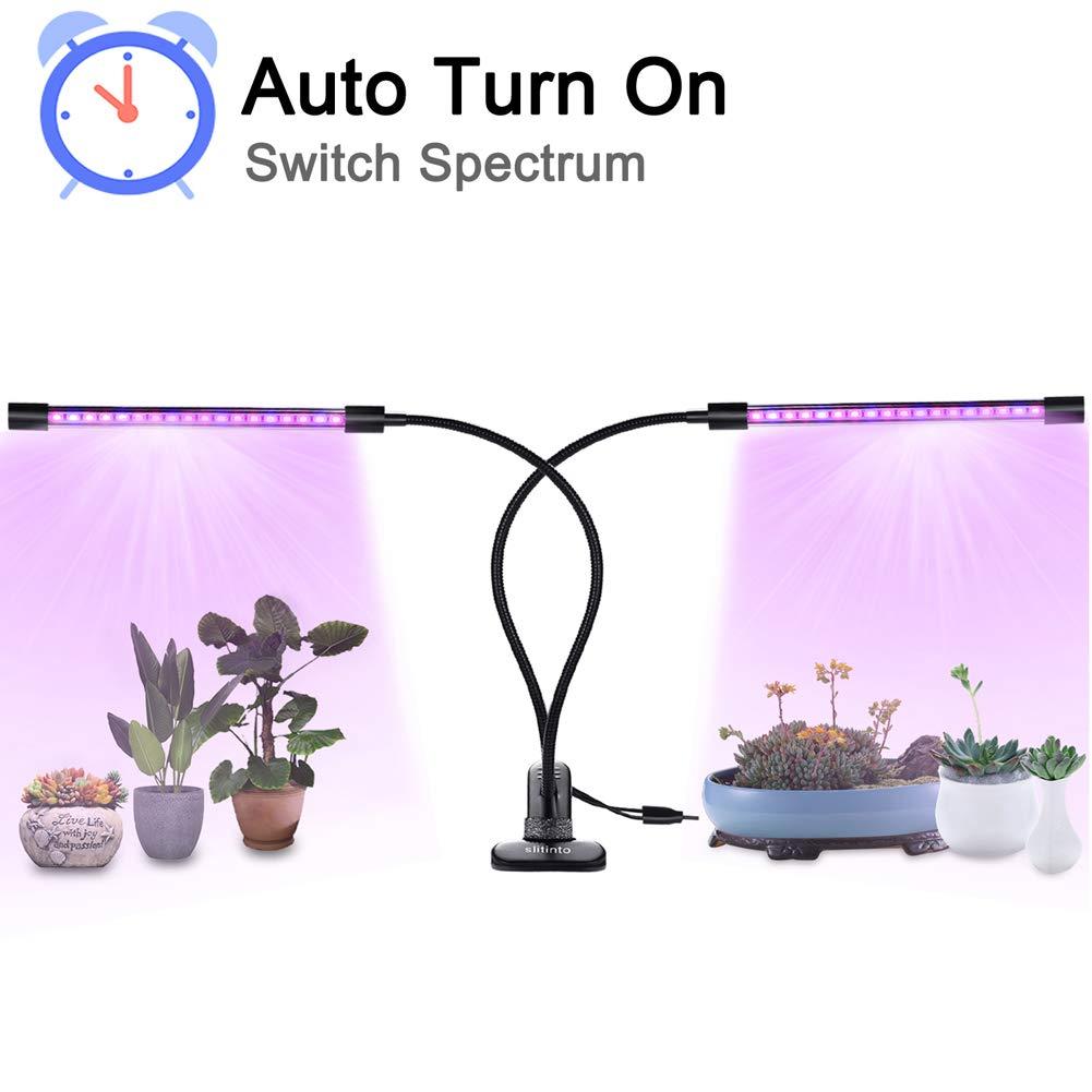 360°Flexible LED Grow Light,Youmeet 18W Professional Dual Heads Plant lamps