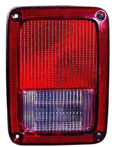 Jeep Wrangler 07-10 Rear Tail Light Lamp With Bulb (Replace Tail Light Lens)