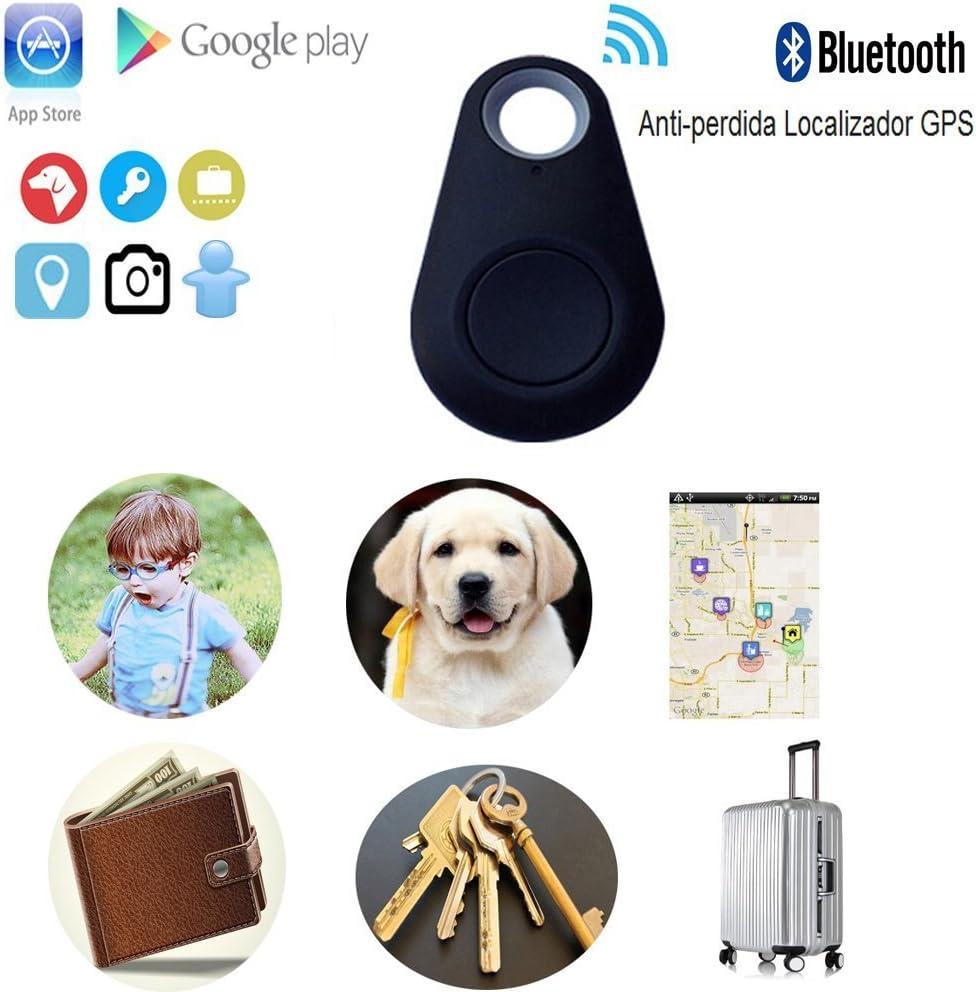 Mini Anti-Lost Wireless Tracker GPS Locator for Kids,Keys,Pets,etc.(Black)