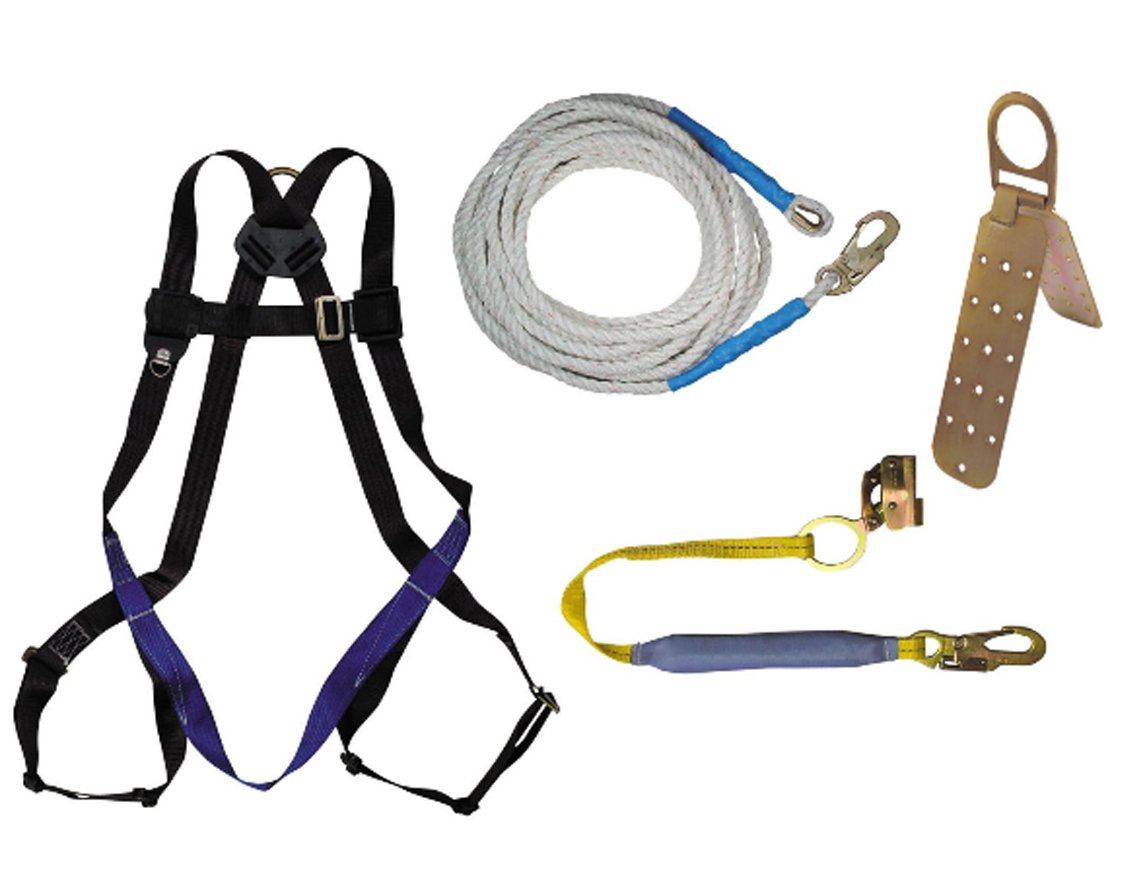 Fall Tech 8593A FT Basic Harness with Roofer's Kit, Universal Fit, 5-Pack by FallTech B0086310VG