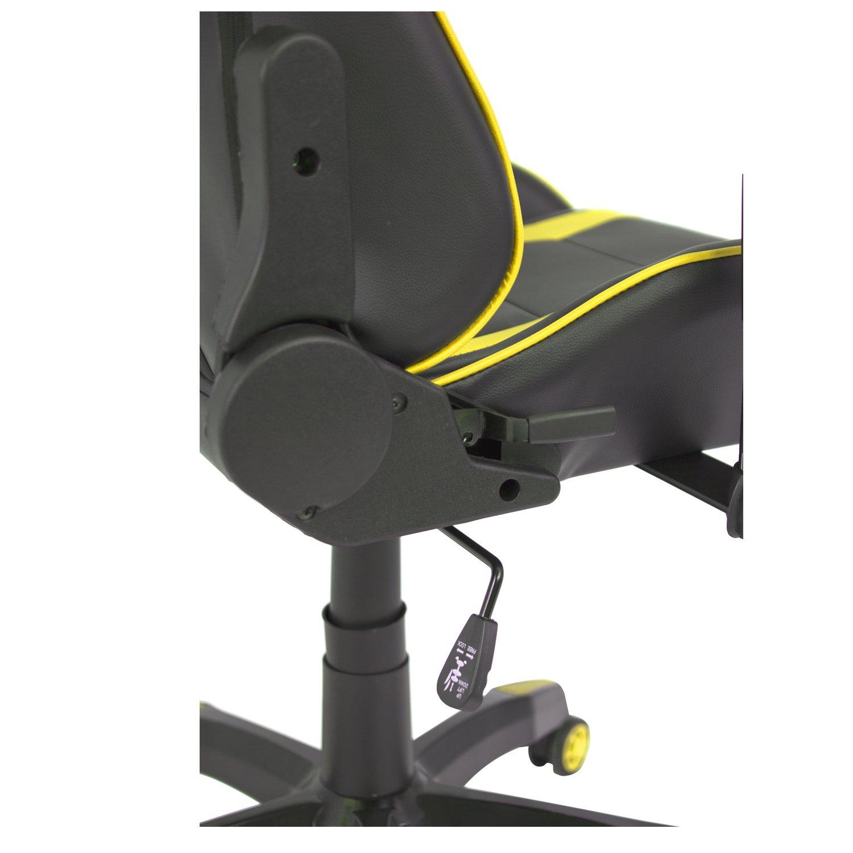 Cashoffice - Silla Gaming - Silla Racing - Silla Ordenador Ergonómica - Varios Colores (Amarillo): Amazon.es: Oficina y papelería