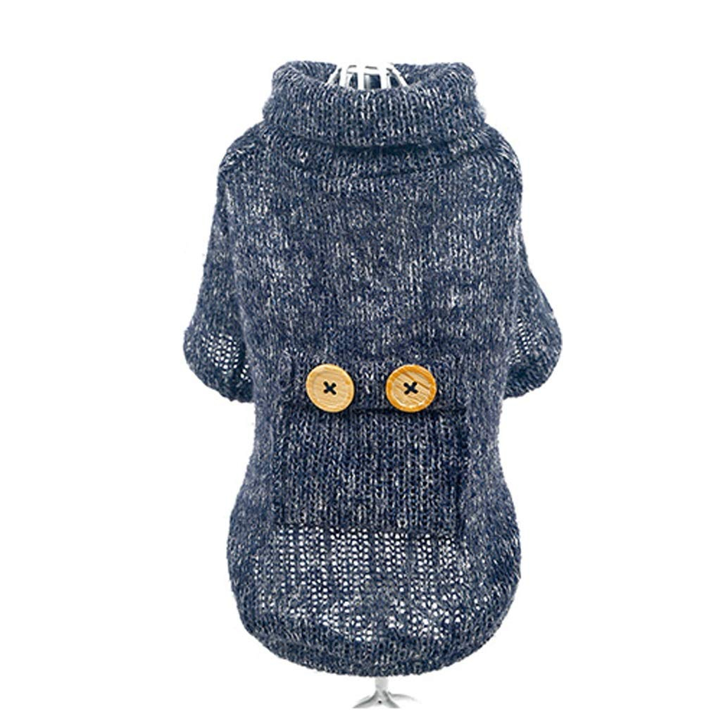 LZRZBH Pet Supplies Dog Sweater Teddy Puppies Clothes Suits for The Law and Other Pet Dog Clothes Winter Clothing,Blue(XS-XL) (Size : XL)