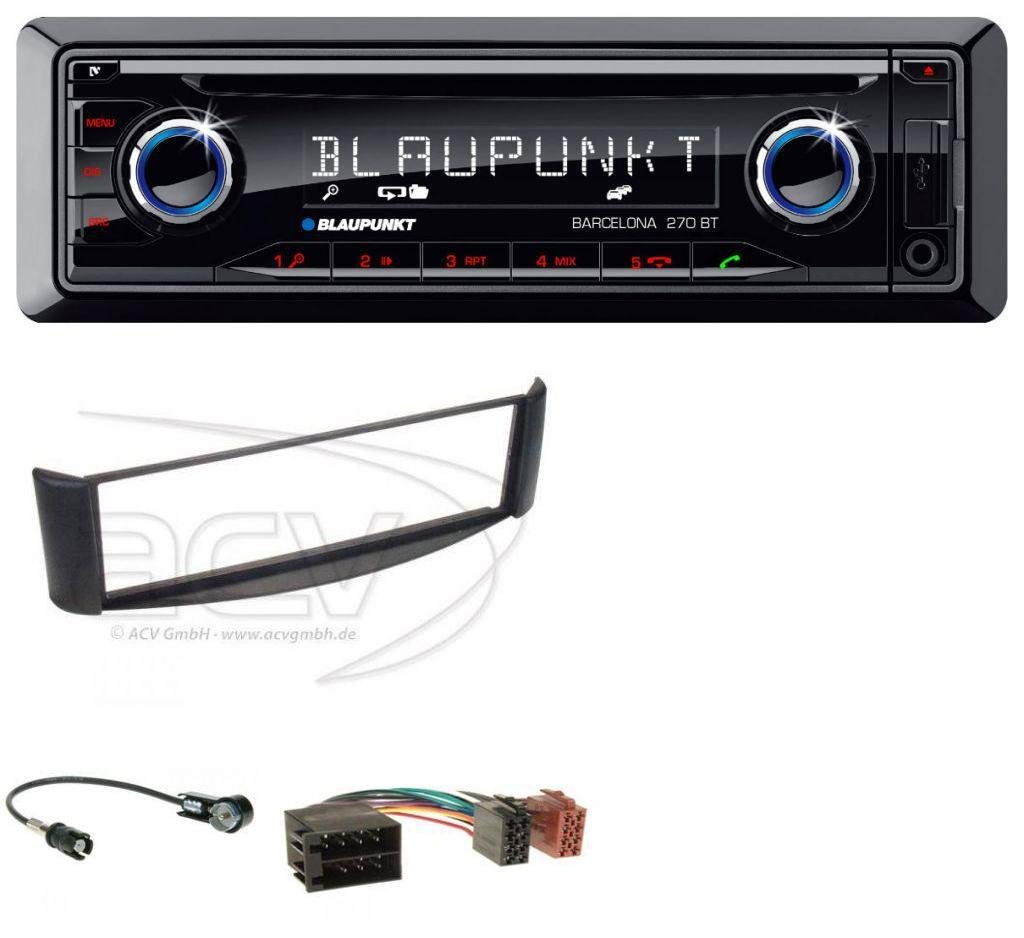 caraudio24 Blaupunkt Barcelona 270 BT SD MP3 CD USB Bluetooth Autoradio fü r Smart ForTwo (1998-2007)