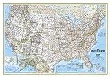 USA Classic Political Map Laminated