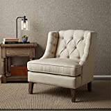 Sawyer Button Tufted Accent Chair Cream See Below