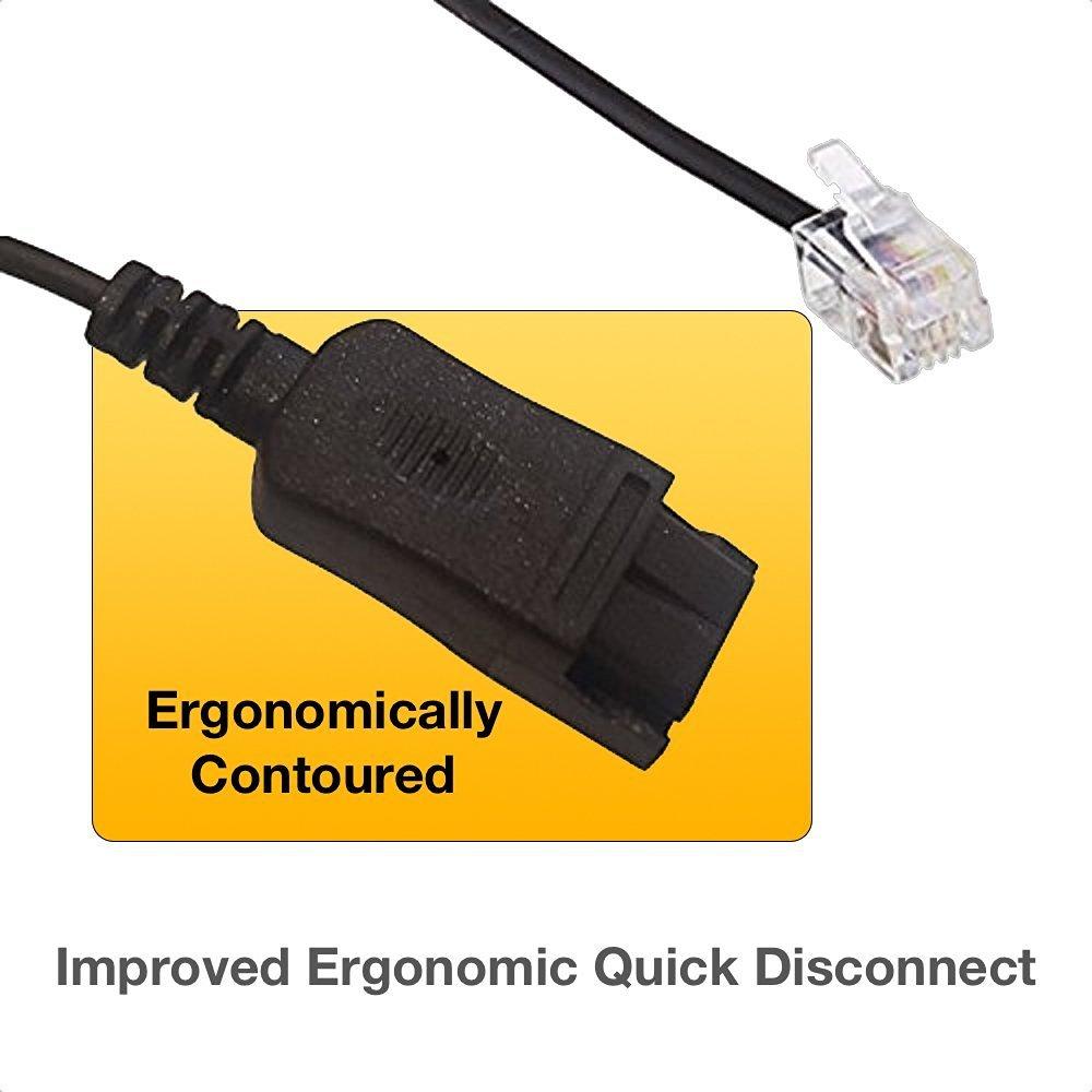 Polycom Compatible Plantronics VoIP Noise Canceling HW251N Headset Bundle for SoundPoint® Phones: IP 300, 335, 450, 501, 550, 560, 600, 650, 670 | VVX300, VVX310, VVX400, VVX410, VVX500, VVX600, VVX1500 | CX300, CX600, CX700