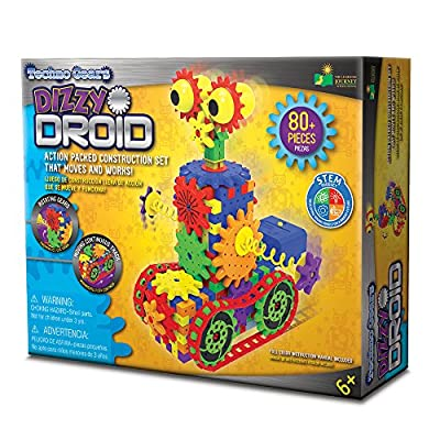 The Learning Journey Techno Gears STEM Construction Set – Dizzy Droid (60+ Pieces) – Award-Winning Learning Toys & Gifts for Boys & Girls Ages 6 Years and Up: Toys & Games