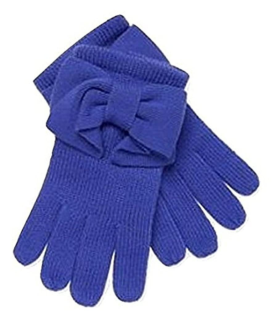 kate spade new york Women's Blue Dorothy Bow Gloves