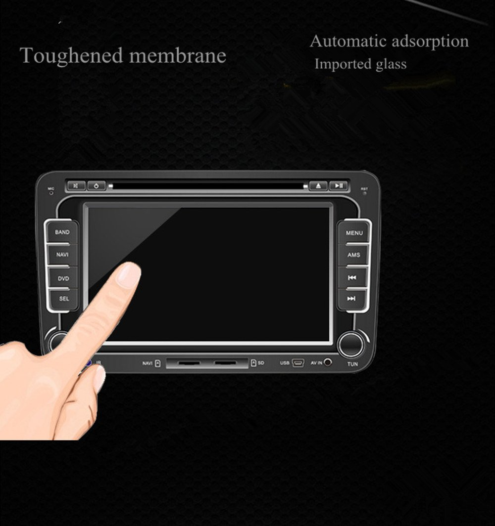 Ford Car Navigation Screen Protector,Gycinda Ford F-150 2017 The Original Car Navigation 175105mm 8inch Clear Tempered Glass Touch Screen Protector STK9153