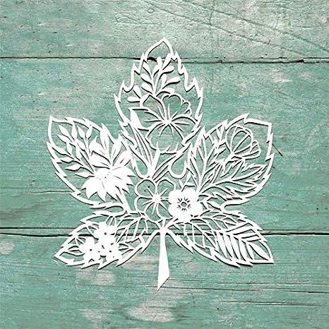 DIYMaple Leaf Dies Metal Cutting Stencil For Scrapbooking Paper Cards Gift