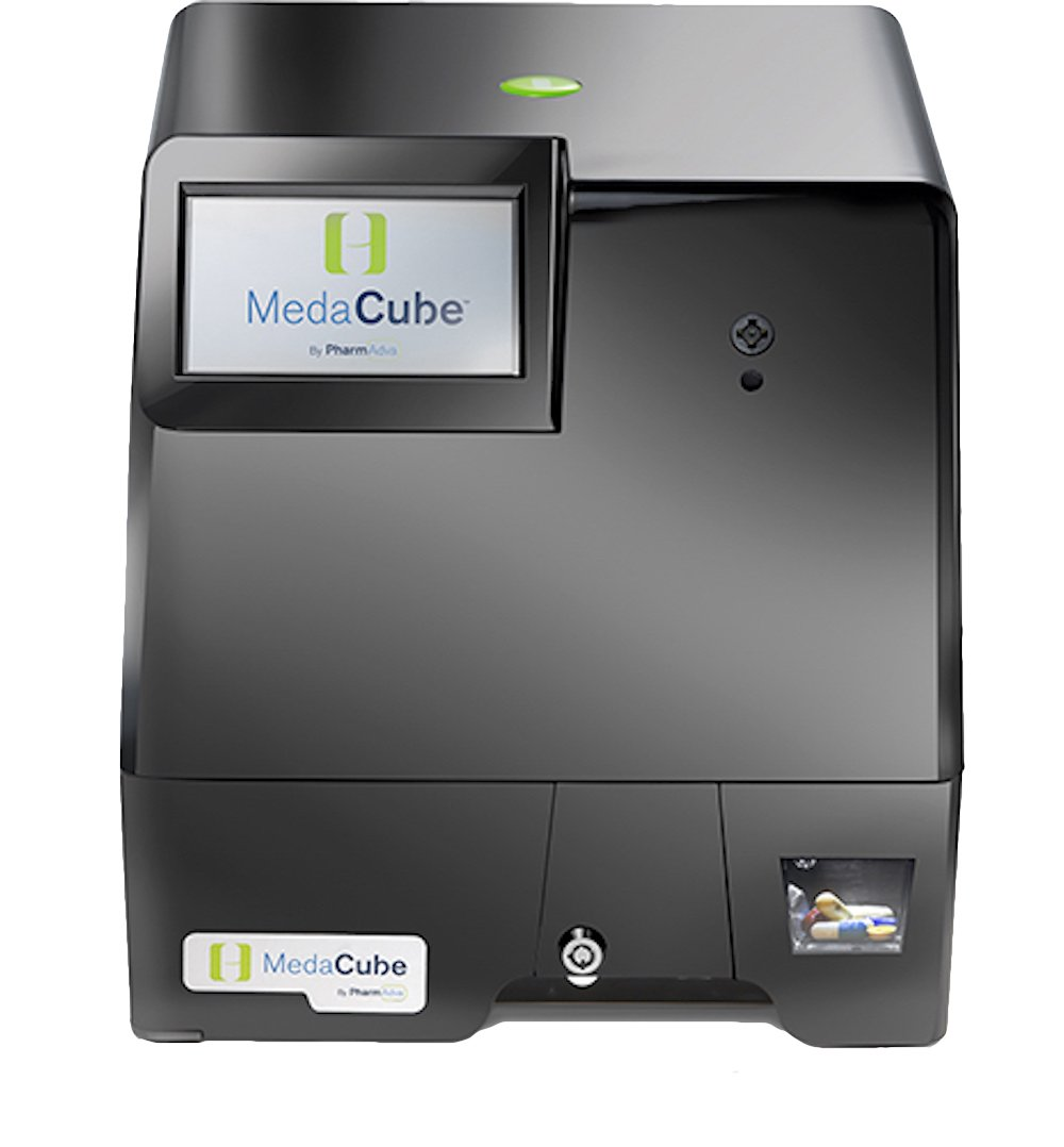 MedaCube Automatic Pill Dispenser, No Assembly, 90-Day/12-bin, Touchscreen, Lockable, WiFi, Alerts & Notifications for Improved Independence
