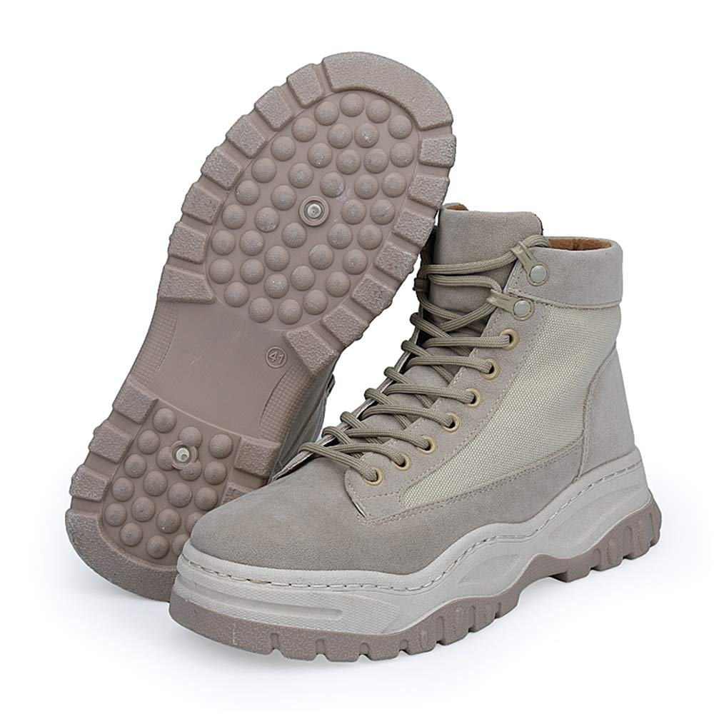 84e636a3a9ba Amazon.com  Gobling Men s Ankle Chukka Boots - Casual Thick Heel High Top  Lace Up Shoes Outdoor Snow Boots Sneakers (Color   Khaki