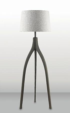 Stehleuchte Dreibein-Lampe Loft Sorpetaler 111800 Stoffschirm Holz ...