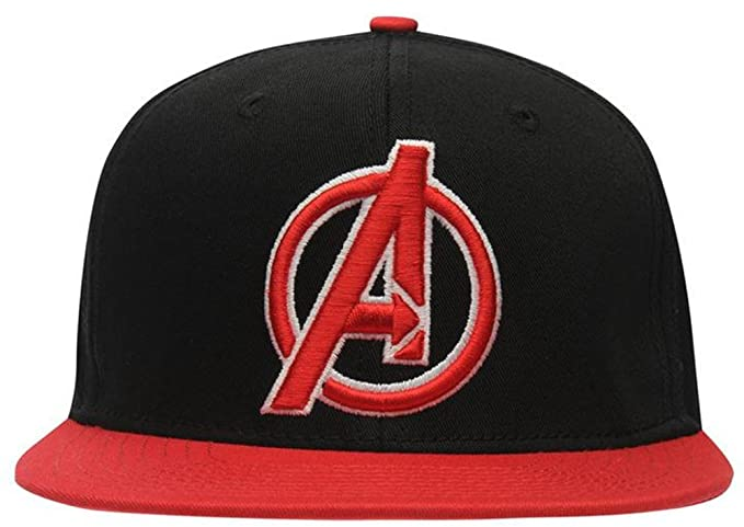 c39afb3062a Mens Iconic Superhero Embroidered Flat Peak Cap Headwear (Mens ...