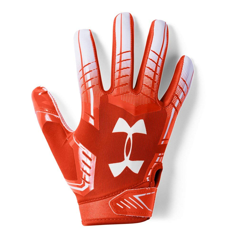 Under Armour Boys' F6 Youth Football Gloves, Dark Orange (860)/White, Youth Small
