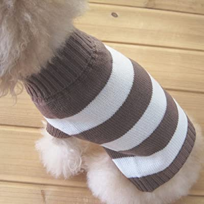 Tangpan Turtleneck Stripes Pet Clothes Dog Wool Classic Sweaters