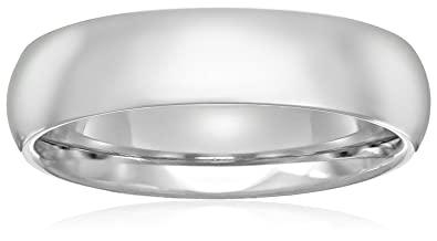 Standard comfort fit platinum wedding band 5mm amazon standard comfort fit platinum band 5mm size 75 junglespirit Gallery