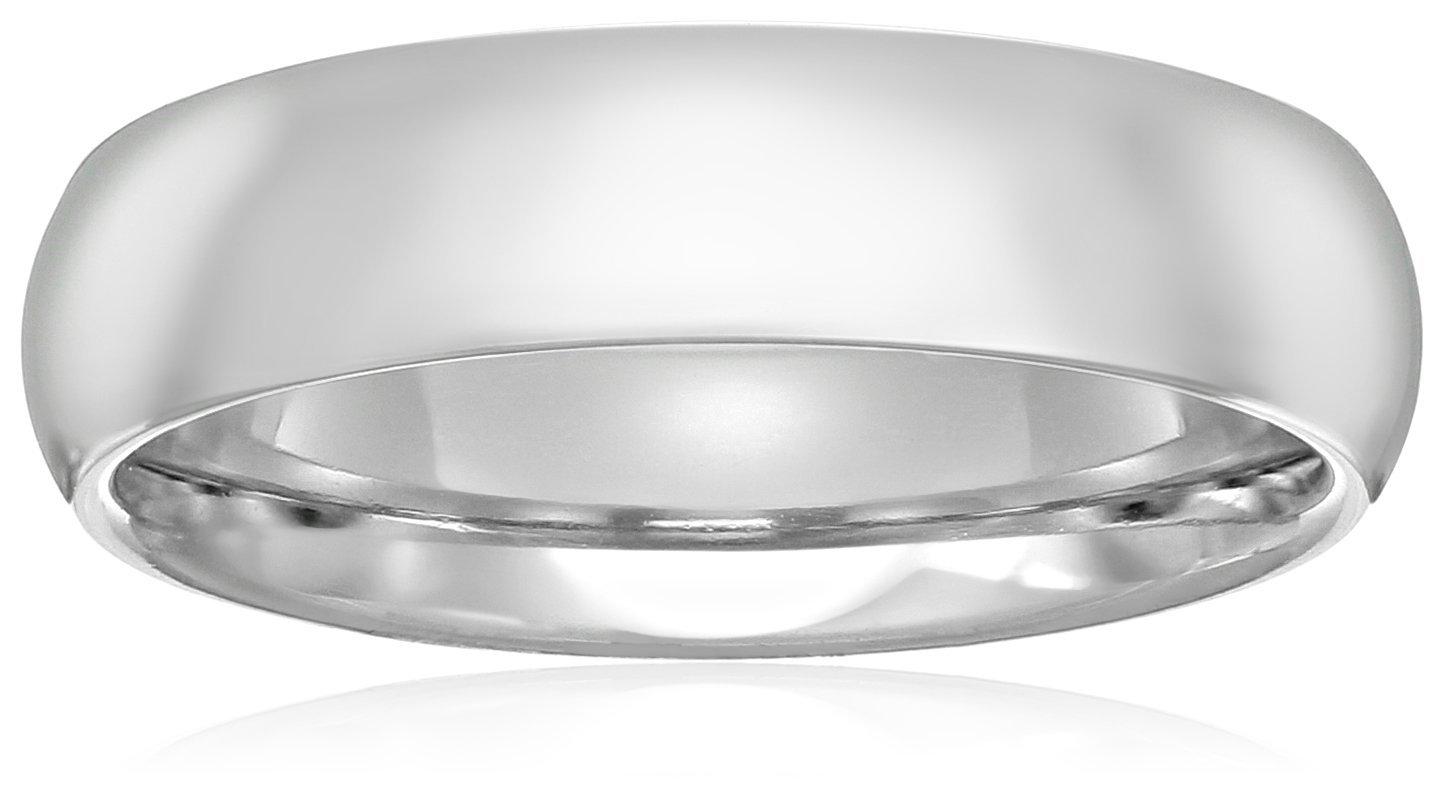 Standard Comfort-Fit Platinum Band, 5mm, Size 8.5