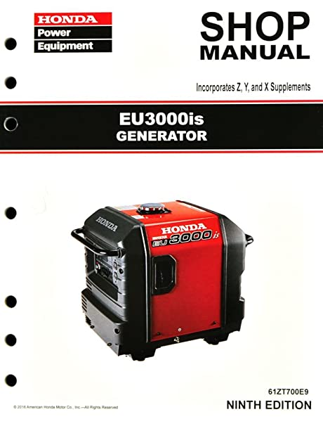 amazon com honda eu3000 eu3000is generator service repair shop rh amazon com honda generator eu3000is service manual honda generator eu3000i handi manual
