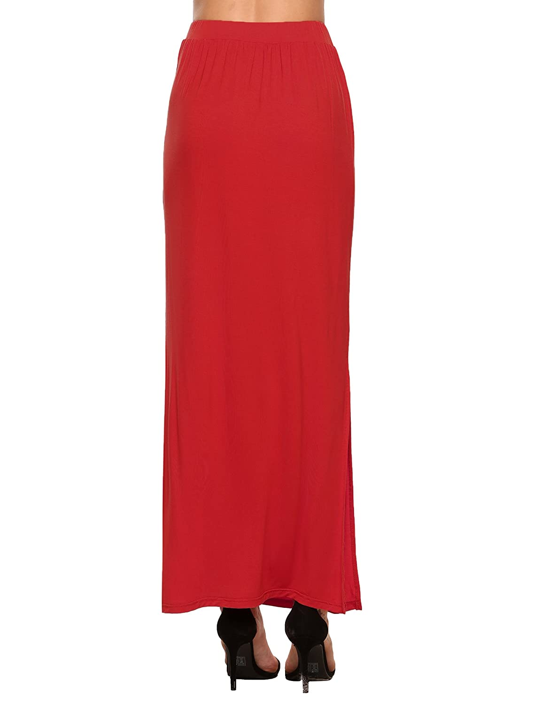 95d594a0f4 Zeagoo Lightweight Long Skirt For Women Ankle Length Maxi Slit Skirt at  Amazon Women's Clothing store: