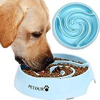 Cuenco para perro PETDURO con capacidad de 14 onzas y base antideslizante para reducir la velocidad de los accesorios…