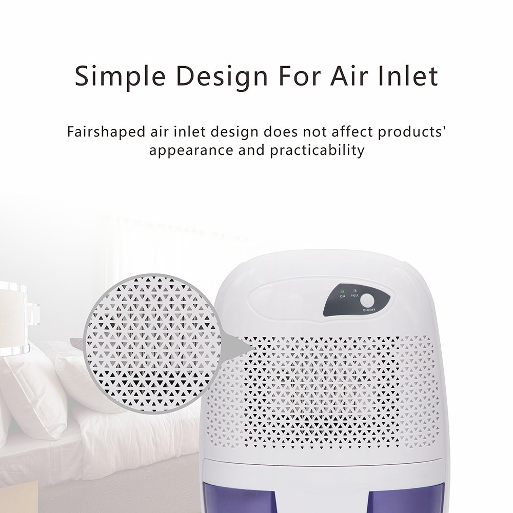 Afloia Mini Dehumidifier for Room Quiet Small Dehumidifier for Home Mini Air Dehumidifiers for Bathroom 17ounce Dehumidifier Office