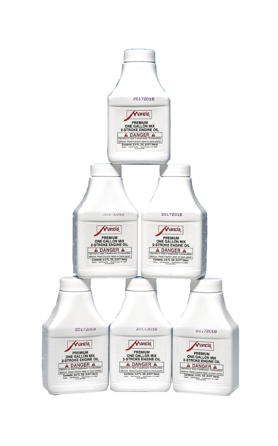 Mantis 1522 6-Pack Tiller 2-Cycle Engine Oil by Mantis