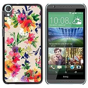 Be Good Phone Accessory // Dura Cáscara cubierta Protectora Caso Carcasa Funda de Protección para HTC Desire 820 // Vibrant Colors Fabric