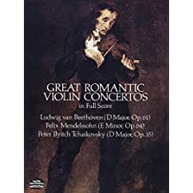 Great Romantic Violin Concertos in Full Score