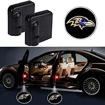 For Baltimore Ravens Car Door Led Welcome Laser Projector Car Door Courtesy Light Suitable Fit for all brands of cars