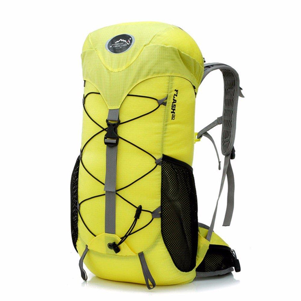 Yellow Wild Mountain Bike Riding Backpack Camping Equipment Supplies Storage Bag Sports Outdoor Climbing Backpack Bicycle Climbing Backpack