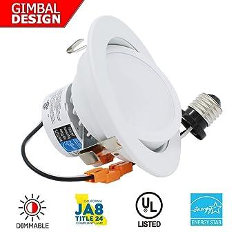 ESD Tech 4 pulgadas LED de intensidad regulable retrofit - Foco empotrable, borde Sustitución de 9 W ...