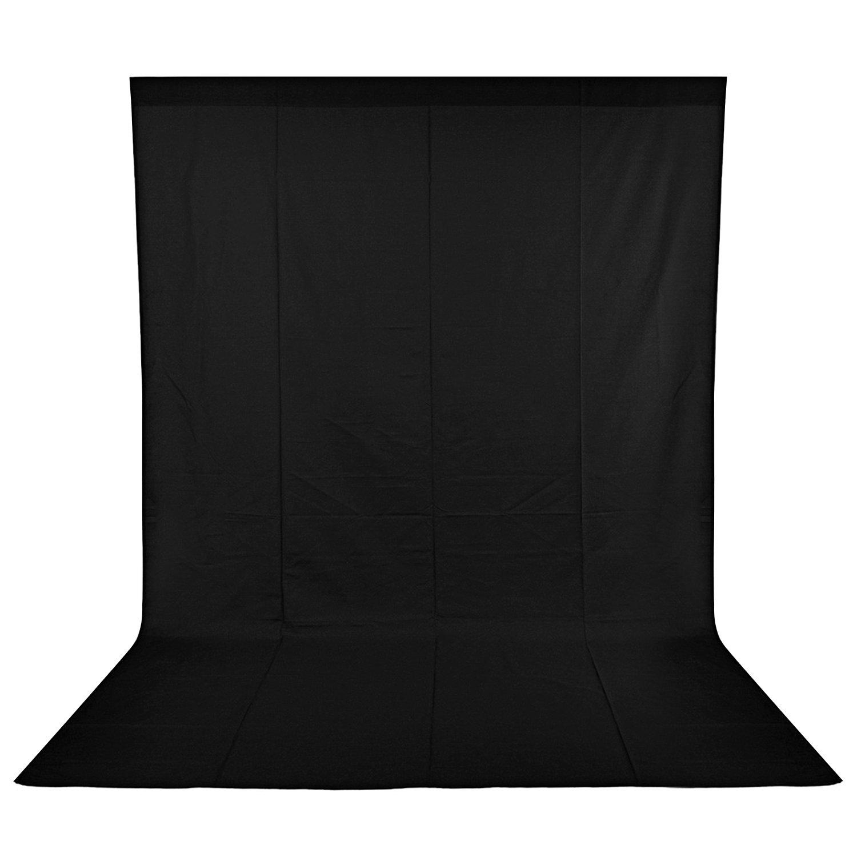 NEEWER 9 x 13FT/2.8 x 4Mビデオ撮影用100%純粋モスリン折りたたみ式背景布ビデオ テレビ(背景布のみ)ブラック 【並行輸入品】   B01ID955GI