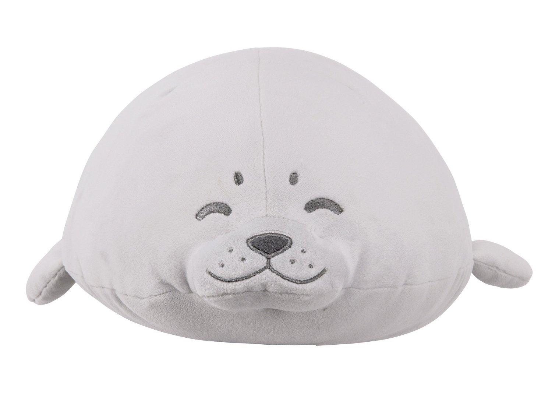 LivHeart Premium Nemu Nemu Super Soft Body Pillow Hug Pillow Earless Seal M