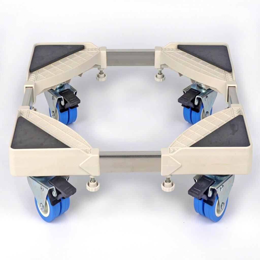 JUFU Moving Tool Two-Wheel Fridge Washer Base, High Seat Mobile Support Drum Washing Machine, 470mm-670mm 470mm 670mm @@