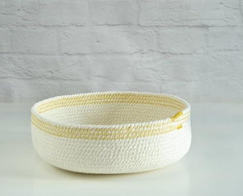 Cuenco de cuerda de algodón blanco y mostaza. ENVÍO GRATIS A ...