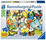 Ravensburger Butterflies Large Format 500 Piece Jigsaw Puzzle for Adults – Every Piece is Unique, Softclick Technology Means Pieces Fit Together Perfectly