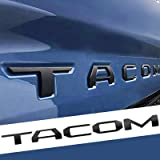 Auto safety Tailgate Insert Letters for Taco 2016-2021 3D Raised Zinc Alloy Rear Emblem Decals with 3M Adhesive-Matte Black