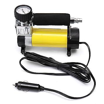 GEGEQUNAERYA - Compresor de Aire portátil de un Solo Cilindro, 12 V, 100 PSI, inflador de neumáticos eléctricos, Herramienta de Cuidado del Coche: ...