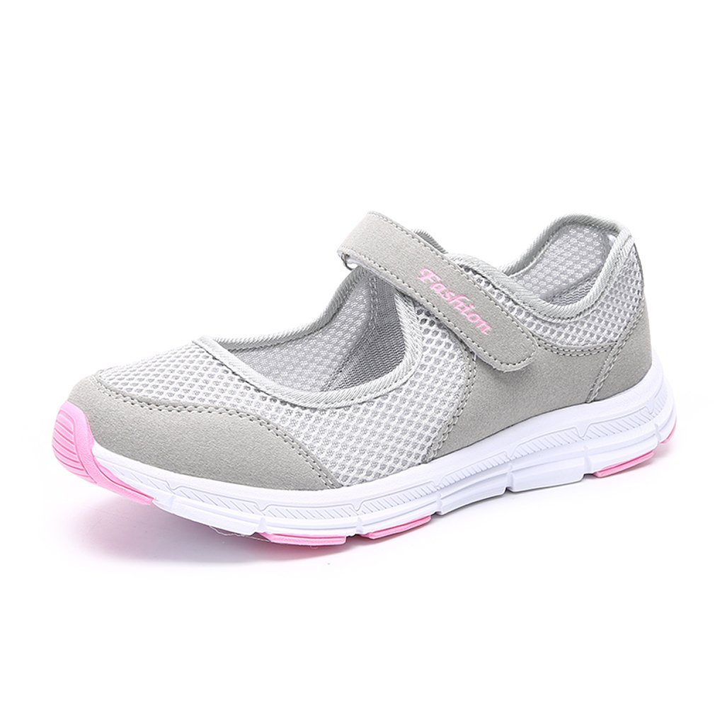 CARETOO Women's Walking Shoes Mary Jane Flat Sneakers Breathe Casual Slip-on Shoes