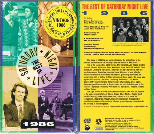 The Best of Saturday Night Live:  1986 Annual [VHS]