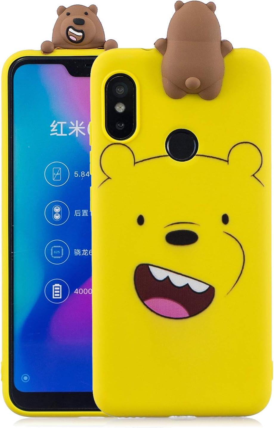 MOSORIS Funda Xiaomi MI A2 Lite, 3D Patrón de Dibujos Animados ...