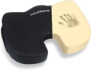 COMHOMA Seat Cushion for Office Chair- Memory Foam Office Chair Cushion for Butt and Back Support- Car Seat Cushion - Sciatica & Tailbone Pain Relief-Wheelchair Seat Cushion for Seniors