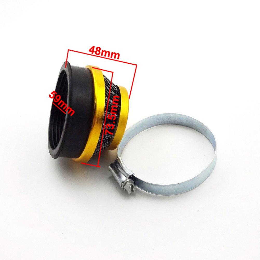 Stoneder 60/mm oro filtro aria per 50/cc 60/cc 80/cc gas motorizzato bicicletta 47/CC 49/cc Minimoto Pocket Bike mini moto ATV Quad