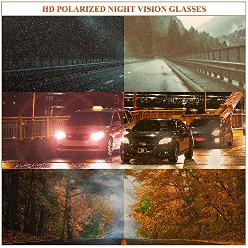 Noir de Eblouissement Nocturne Jaune Nuit UVB Polarisée Myopie Monture Protection 100 Anti Plastique Conduite amp; Grosse Des Vision de LVIOE UVA de Lunettes Lunette Enveloppante gnwq5q8C