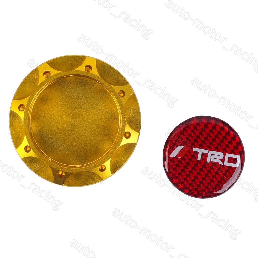 RED CARBON TRD Racing GOLD Engine Oil Filler Cap Oil Tank Cover Aluminium