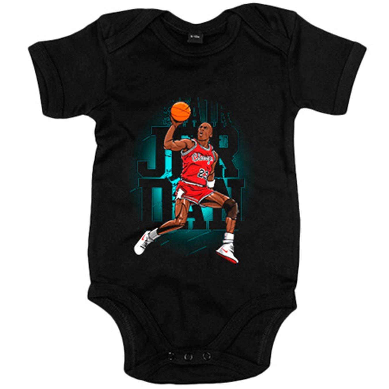 Body beb/é ilustraci/ón leyenda del baloncesto 23 Chicago Blanco 6-12 meses