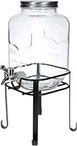 Orchid Glass Beverage Dispenser with Stand - Clear