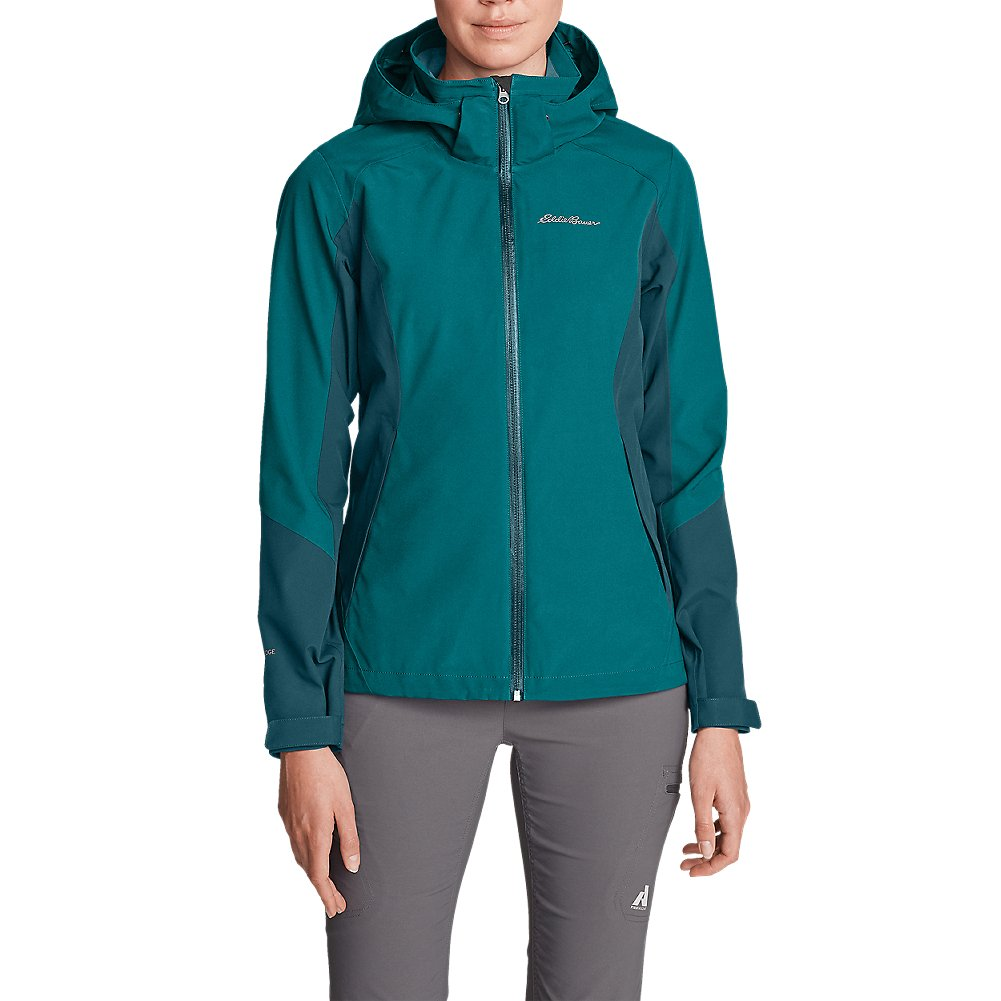 Eddie Bauer Women's All-Mountain 2.0 Shell Jacket, Rainier Teal L