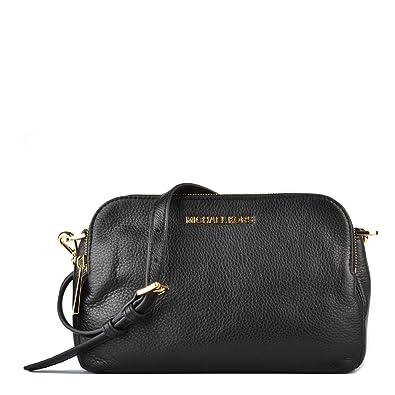 2866c0954c59b MICHAEL by Michael Kors Bedford Black Medium Double Zip Cross Body Bag